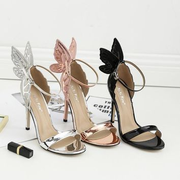 Patent Leather Bow-Tie Butterfly Stilettos