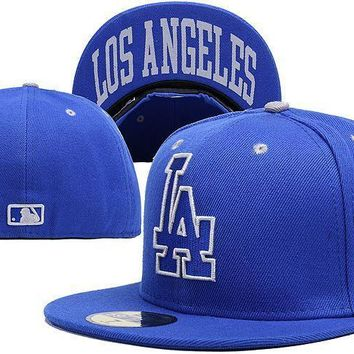 PEAPON Los Angeles Dodgers New Era MLB Authentic Collection 59FIFTY Cap Blue LA