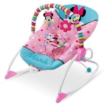 Disney Newborn Baby Minnie Mouse Peekaboo Infant To Toddler Rocker