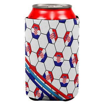 World Cup Croatia Soccer Ball All Over Can Cooler