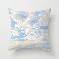 Clouds Throw Pillow by Lillianhibiscus