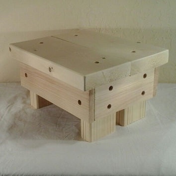 Rustic Step Stool, wooden, handmade  (Unfinished)