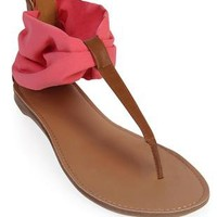 flat sandal with scarf ankle - 1000044367 - debshops.com