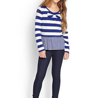 FOREVER 21 GIRLS Striped Bow Top (Kids)