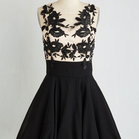 Long Sleeveless Fit & Flare Blossom and Found Dress
