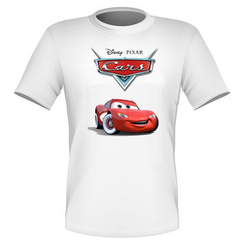Brand New Fun Disney Cars Movie T-shirt Lightning McQueen All Sizes