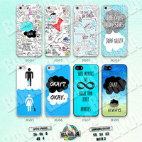 John Green, The Fault in Our Stars, iPhone 5 case, iPhone 5S case, iPhone 5c case, Phone case, iPhone 4 Case, iPhone 4S Case Phone Skin JG09