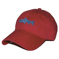 Heathered Trout Needlepoint Hat in Rust Red by Smathers & Branson