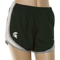 Nike Michigan State Spartans Ladies Green Tempo Performance Shorts