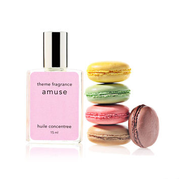 Sugar Macaron perfume - Amuse perfume oil by theme fragrance. Sweet, vanilla, sensual and baby musk. Best selling. Free Samples