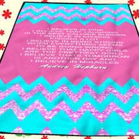 Audrey Hepburn Quote Chevron Kids Blankets Bedroom Vintage Home Living Quilts
