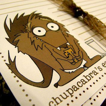 Chupacabra's eat graham crackers not goats by littletoad on Etsy