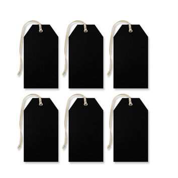 Rectangular Chalkboard Tags, 4-Inch, 6-Piece
