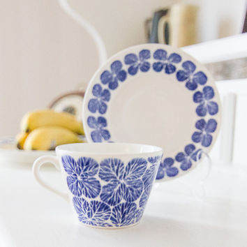 Gustavsberg Cup and Saucer set Stina by Stig Lindberg