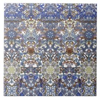 Elegant lace pattern in noble colors-Art Nouveau Ceramic Tile