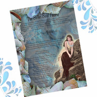 The SELKIE Seal Faerie WISHING SPELL, Digital Download, Faerie,  Book of Shadows Page, Grimoire, Scrapbook, Spells