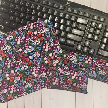 Flowers Mouse pad set - mouse wrist rest keyboard rest desk set coworker gift, under 50