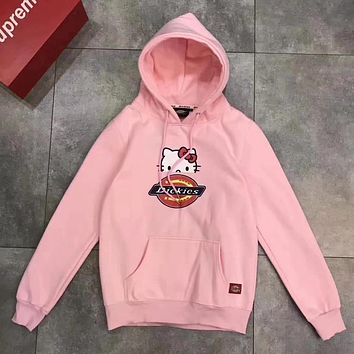 DICKIES x kitty Women Hoodie Top Sweater Pullover