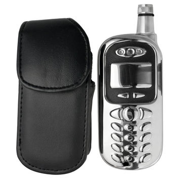 Visol Sneak Cell Phone Stainless Steel Liquor Flask with Leather Pouch - 3 ounces   Overstock.com Shopping - The Best Deals on Flasks & Thermos