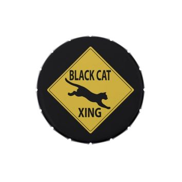 Black Cat Xing Jelly Belly Candy Tins