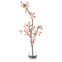 "One Kings Lane - Buyers' Picks - 23"" Cherry Blossom in Glass Vase"