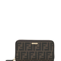 Zucca Continental Zip Wallet, Brown Multi - Fendi