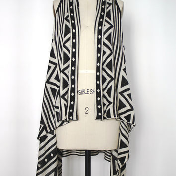 Black And White Sweater Vest Shawl (Ark & Co.)