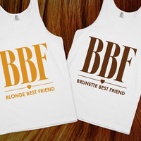 Blonde & Brunette Chic Best Friends Tanks | Skreened.com