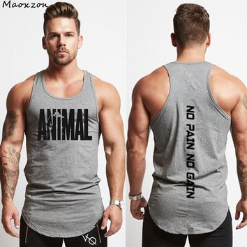 Maoxzon Mens Letter Print Summer Bodybuilding Fitness Tank Tops For Male Casual Active Muscle Sleeveless Shirts Tanks Vests XXL