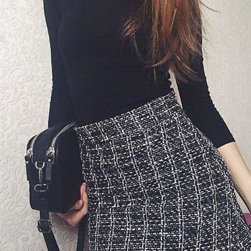 Marbury Tweed Skirt