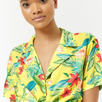 Tropical Floral Print Shirt