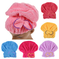 ASLT Textile Microfiber Hair Turban Quickly Dry Hair Hat Wrapped Towel Bath Free Shipping