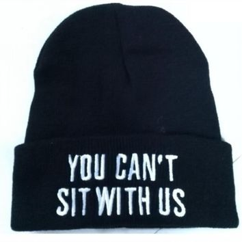 WIIPU you can't sit with us Hip-Hop wool winter Cotton knitted caps(N91)