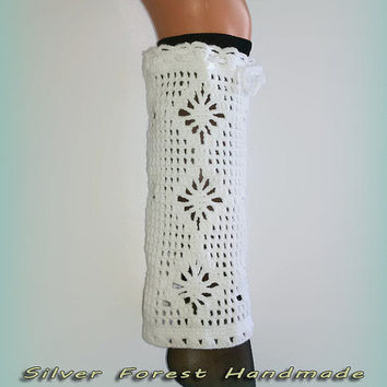 White Stylish leg warmers,Women's fashion accessories,boot cuffs,knee high socks,perfect gift