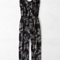 AEO Women's Floral Jumpsuit (Black)