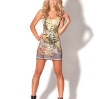 The Hobbit Map Dress | Black Milk Clothing