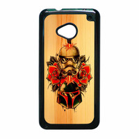 Star Wars Roses Tatto In Wood HTC One M7 Case