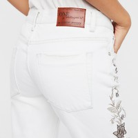 Free People Lola Embroidered Awesome Baggies