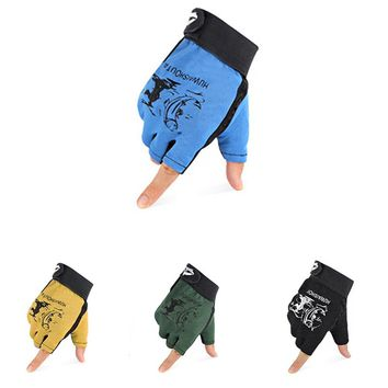 Winter Outdoor Warm  Fishing Gloves 3 Fingers Cut Waterproof Anti-slip Fishing Glove Outdoor Riding Hiking Sports