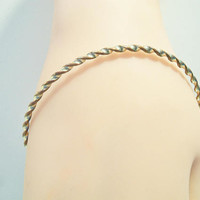 Thin Twisted Bangle Bracelet Twist Design Two Tone Costume Jewelry Fashion Accessories For Her