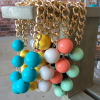Chunky Bauble Necklace - 6 Colors