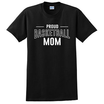 Proud basketball mom team squad game day sport mom love basketball Mother's day T Shirt