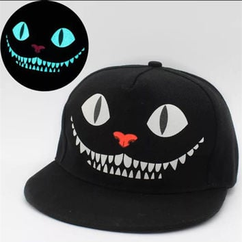 7d5842a912d New Glow In The Dark Snapback Caps Adjustable Hip Hop Fluorescent Baseball  Cap Casual Luminous Caps