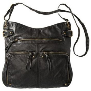 Mossimo Supply Co. Washed Large Crossbody Bag - Black