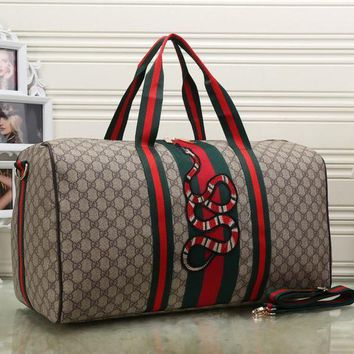 Gucci Women Fashion Leather Embroidery Luggage Travel Bags Tote Handbag-4