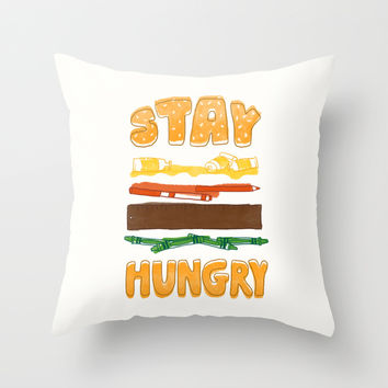 Art Attack Throw Pillow by MidnightCoffee