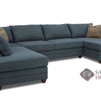 Valencia Dual Chaise Sectional Full Sleeper Sofa by Savvy