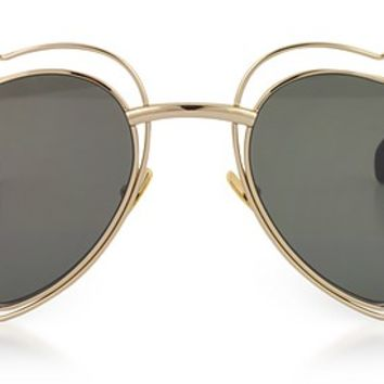 Saint Laurent SL 197 Louluo Heart Metal Women's Sunglasses