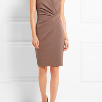 Lanvin - Gathered stretch cotton-blend jersey dress