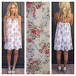Whimsical Romance Floral Dress- IVORY